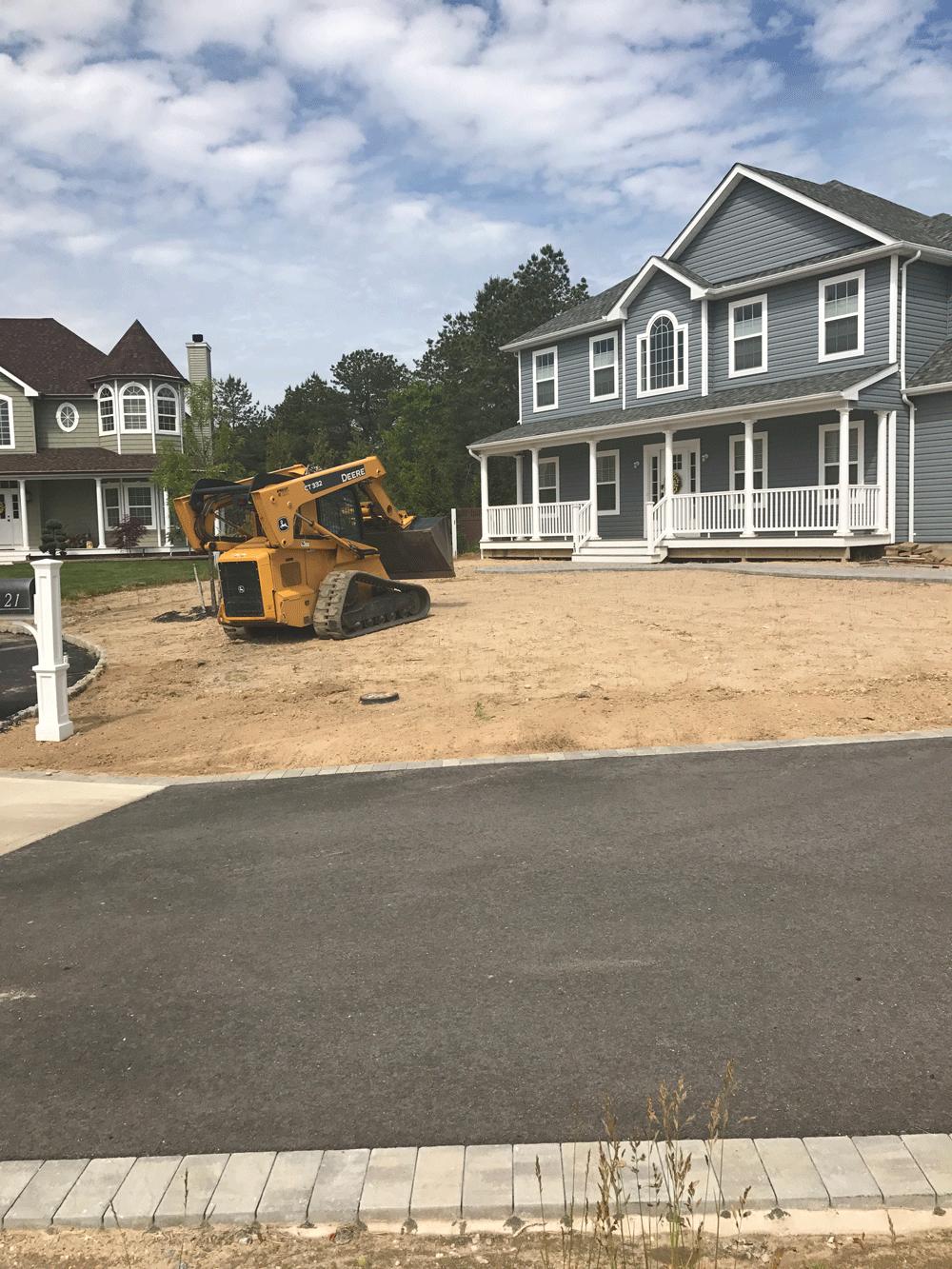 bobcat leveling sand