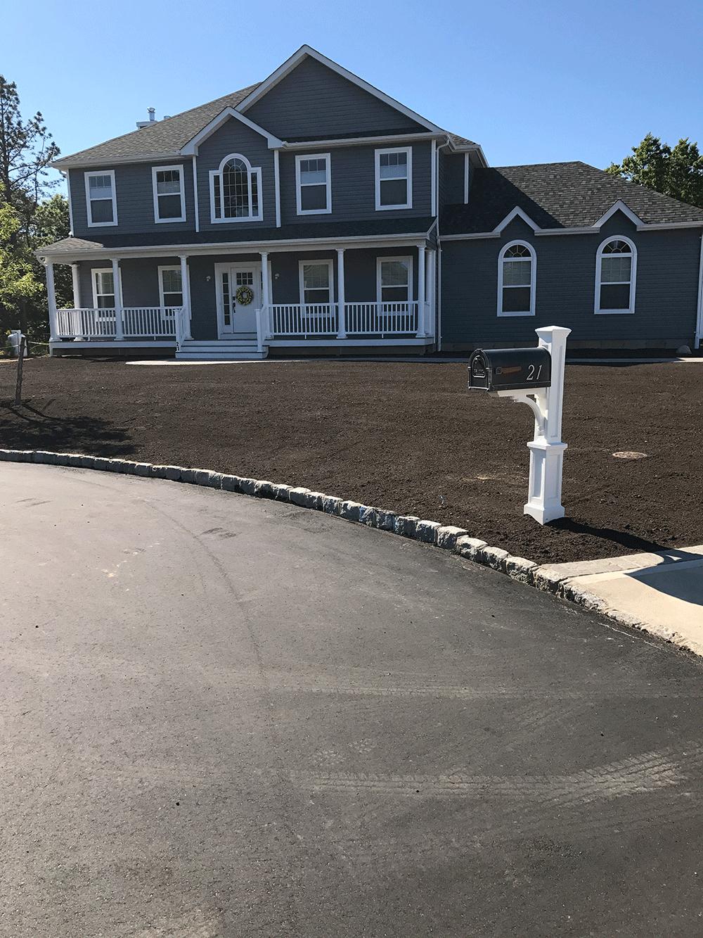 soil on graded property
